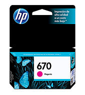 HP CZ115AL 670 Magenta Ink Cartridge